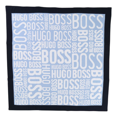 BOSS BLUE LOGO BLANKET-Accessories-BOSS-UNQ-Blue-kids atelier