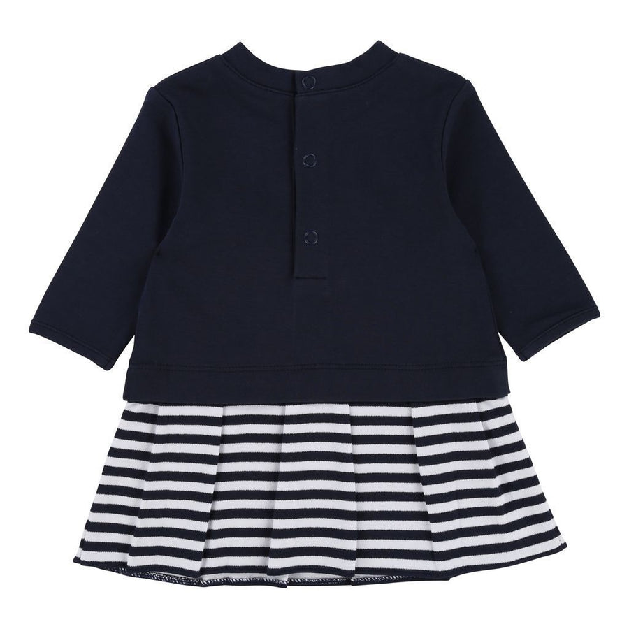 BOSS NAVY STRIPE DRESS