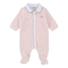 Boss Light Pink Velour Bodysuit-Bodysuits-BOSS-kids atelier