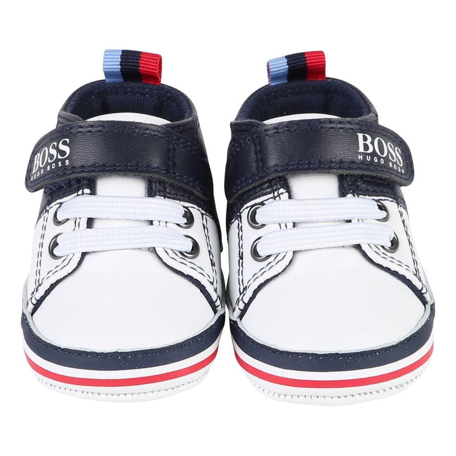 Boss Navy White Trainers-Shoes-BOSS-kids atelier