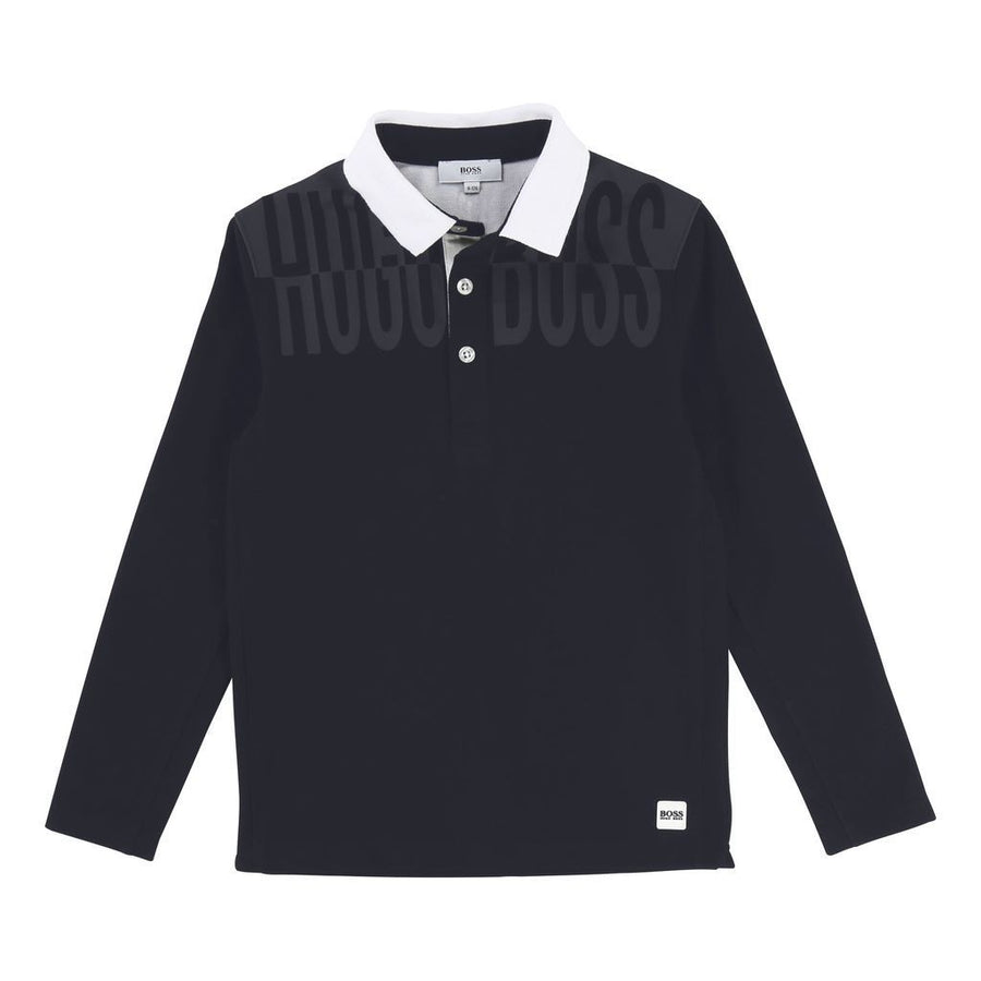 BOSS-J25C71-849-LONG SLEEVE POLO