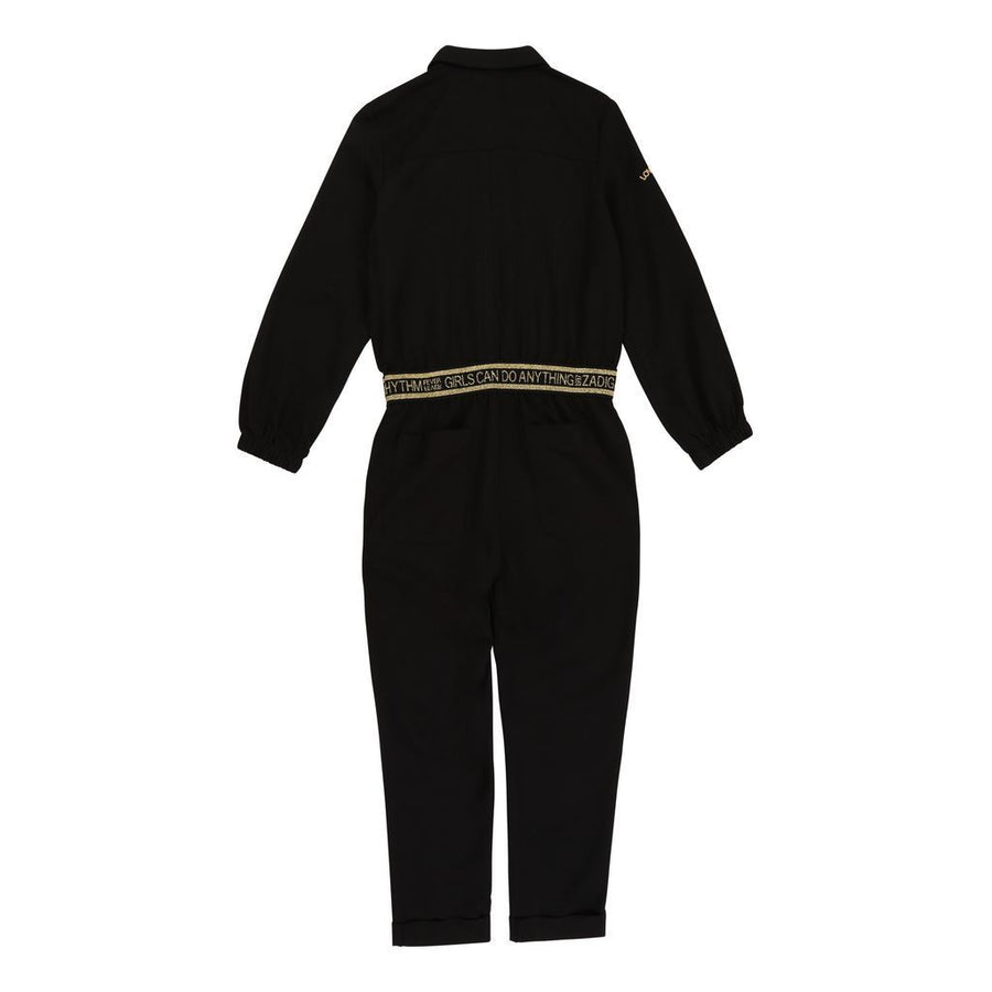 Black Logo Waistband Jumpsuit