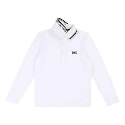 BOSS-LONG SLEEVE POLO-J25C85-10B