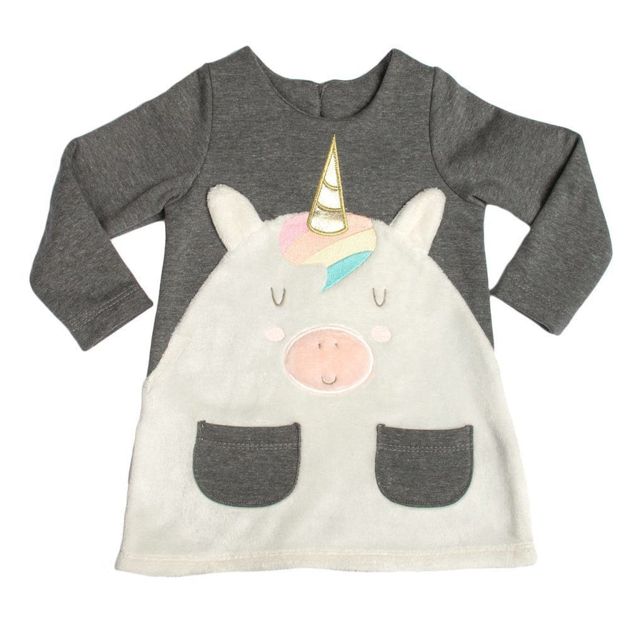 MILKTOLOGY GRAY UNICORN DRESS