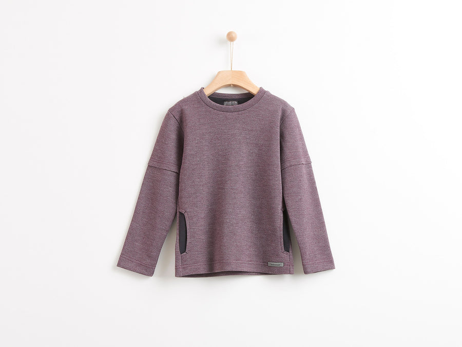 PURPLE LONG SLEEVE T-SHIRT