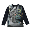 Molo Black Graffiti Robot T-Shirt