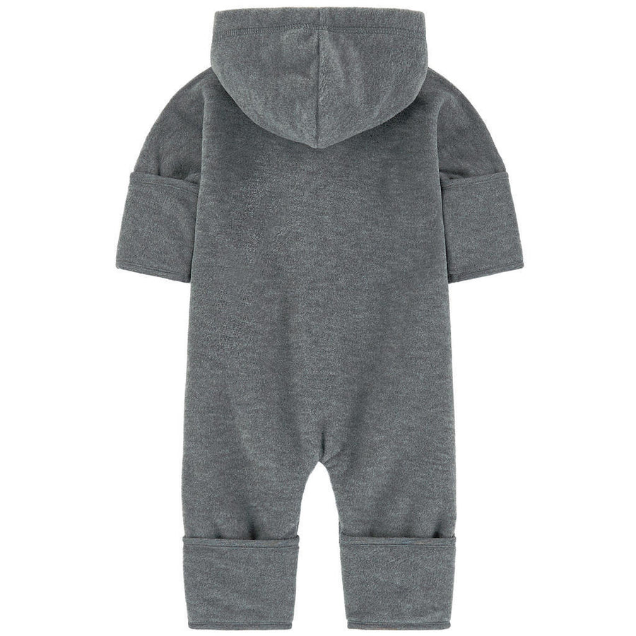 Moncler Gray Zip Hooded Romper