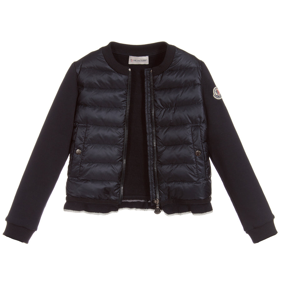 Moncler Navy Quilted Cardigan