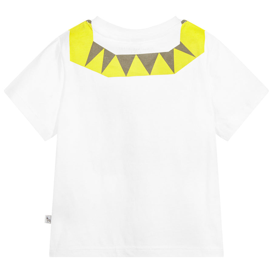 STELLA MCCARTNEY WHITE SHORT SLEEVE SNAKE T-SHIRT