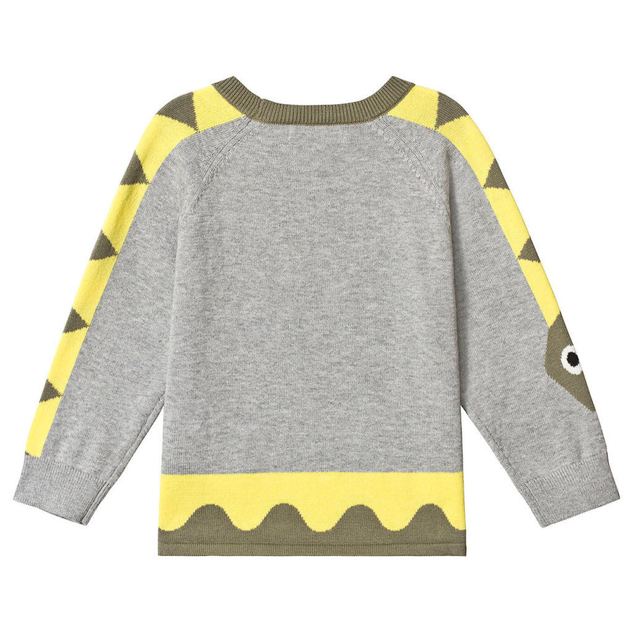 STELLA MCCARTNEY GRAY SNAKE SWEATER