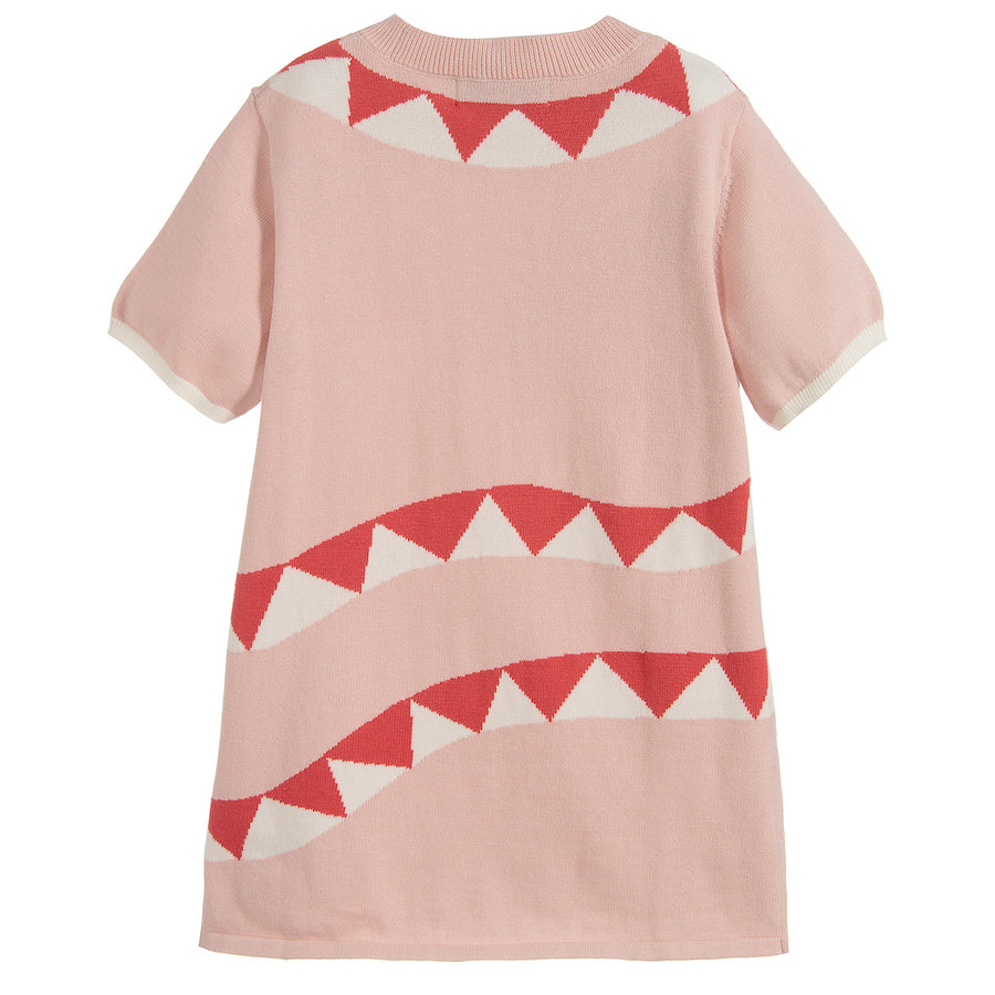 Stella McCartney Pink Snake Short Sleeve Sweater Dress
