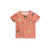 MINI RODINI PINK MONKEY PRINT T-SHIRT