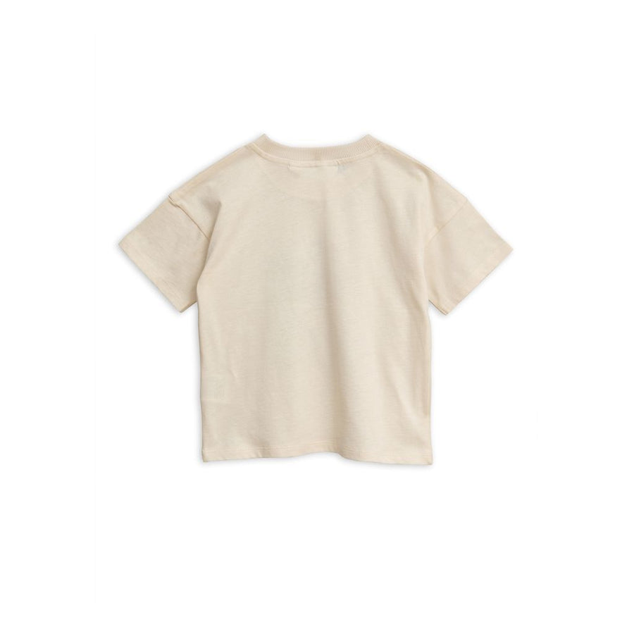 MINI RODINI OFFWHITE COOL MONKEY T-SHIRT