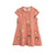 MINI RODINI PINK MONKEY SHORT SLEEVE DRESS