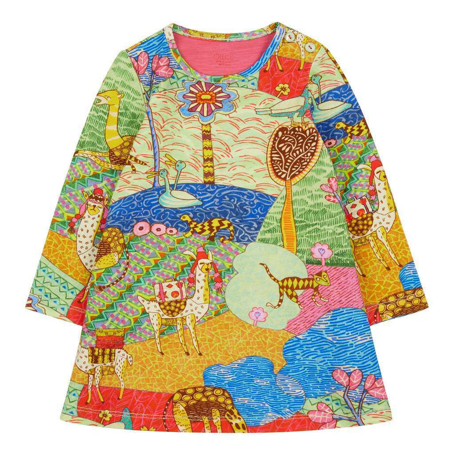 Oilily Aop Atlas Mountain Tastle Jersey Dress-yf18gdr083-61
