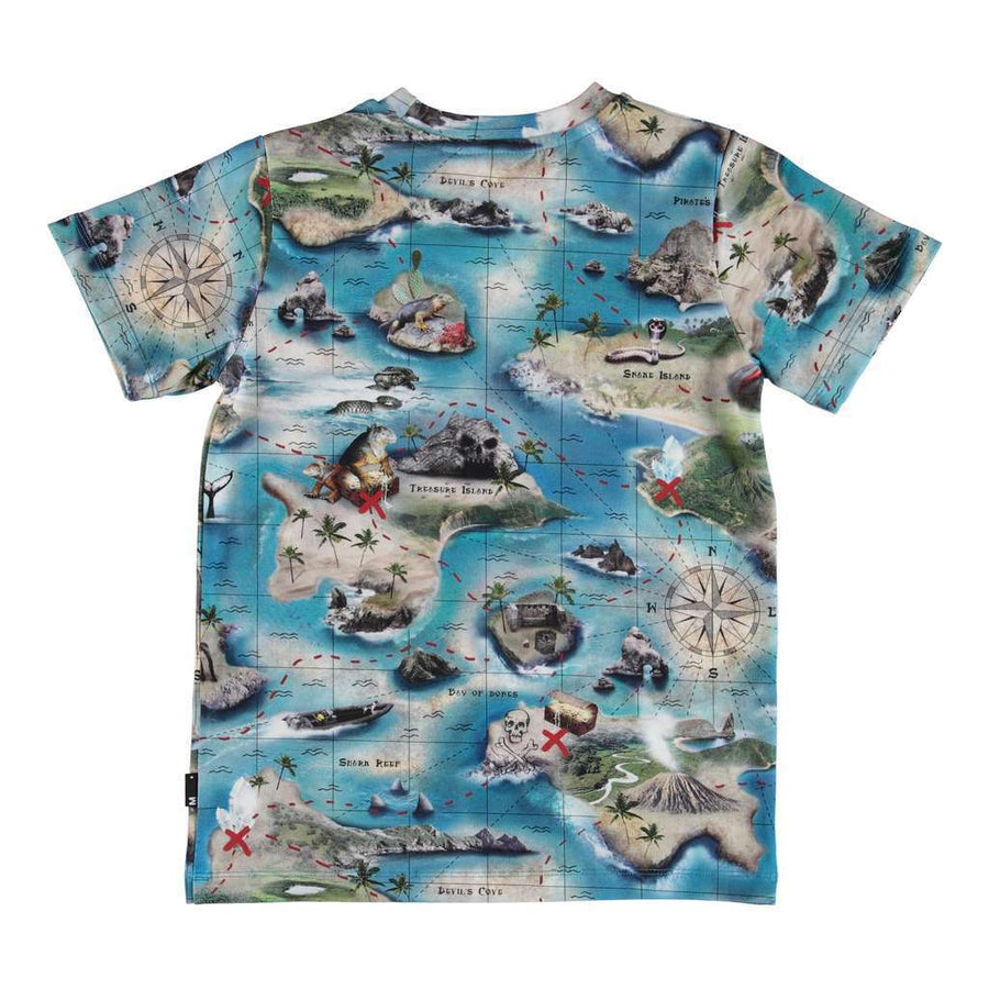 MOLO BLUE RALPHIE TREASURE MAP T-SHIRT