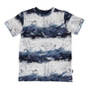 Molo Gray Ralphie Sailor Stripe T-Shirt