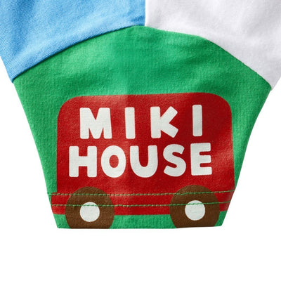 MIKI HOUSE WHITE MULTI-COLOR PATTERN T-SHIRT