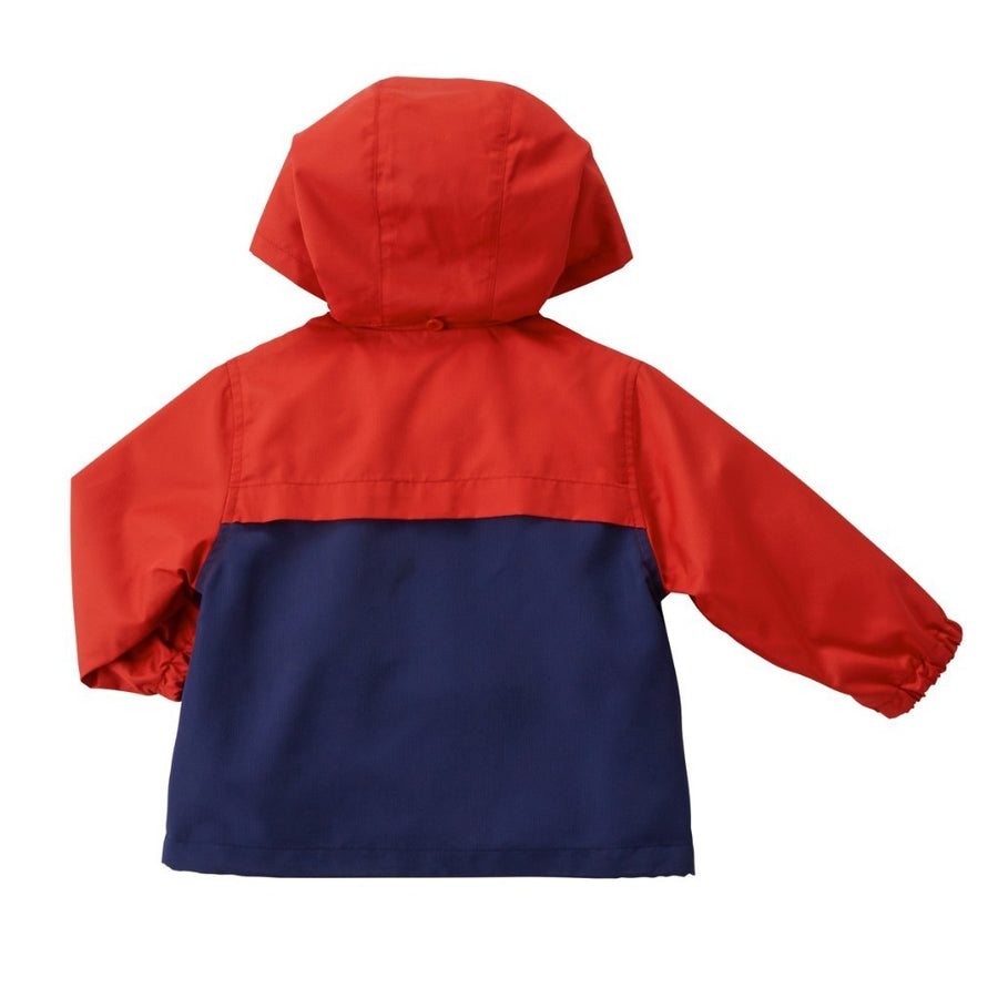 MIKI HOUSE RED NAVY WINDBREAKER
