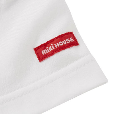 MIKI HOUSE WHITE BEAR POLO SHIRT