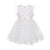 MONNALISA WHITE HEART PRINT TULLE DRESS