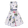 Monnalisa White Floral With Butterfly Print Dress-713938-3643-9951-