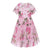 MONNALISA PINK BALZE ROSE DRESS