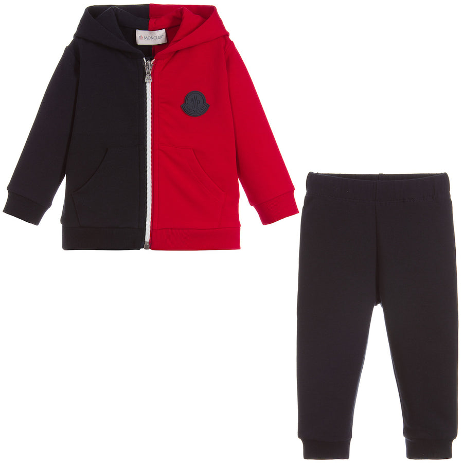 MONCLER-SET CARDIGAN + TROUSERS-E1-951-8812005-809AC-778 NAVY RED