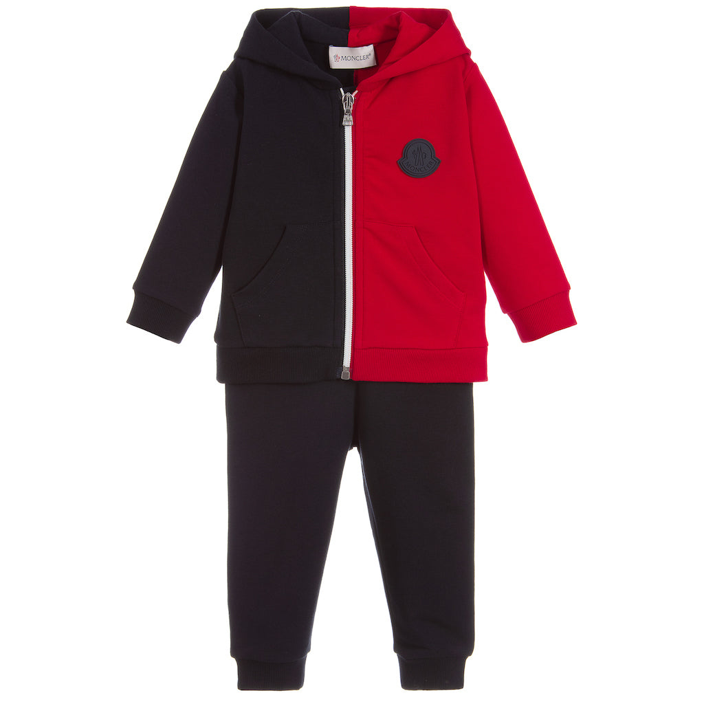 f649a39aa63d Moncler Navy Red Tracksuit Set - kids atelier