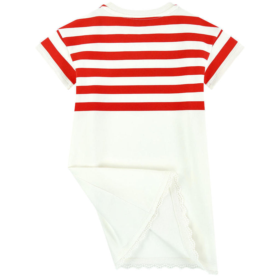 Moncler Red White Stripe Dress