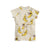 MINI RODINI OFFWHITE BANANA PRINT DRESS