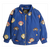 MINI RODINI BLUE MONKEY PRINT BASEBALL JACKET