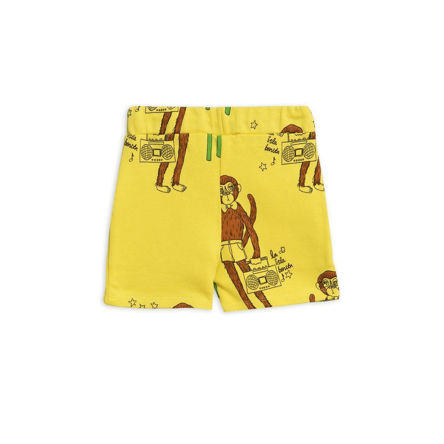 MINI RODINI YELLOW COOL MONKEY SHORTS