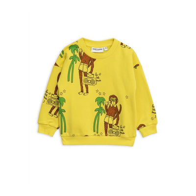 Mini Rodini Yellow Cool Monkey Sweatshirt