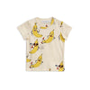 Mini Rodini Off-white Banana Print T-Shirt