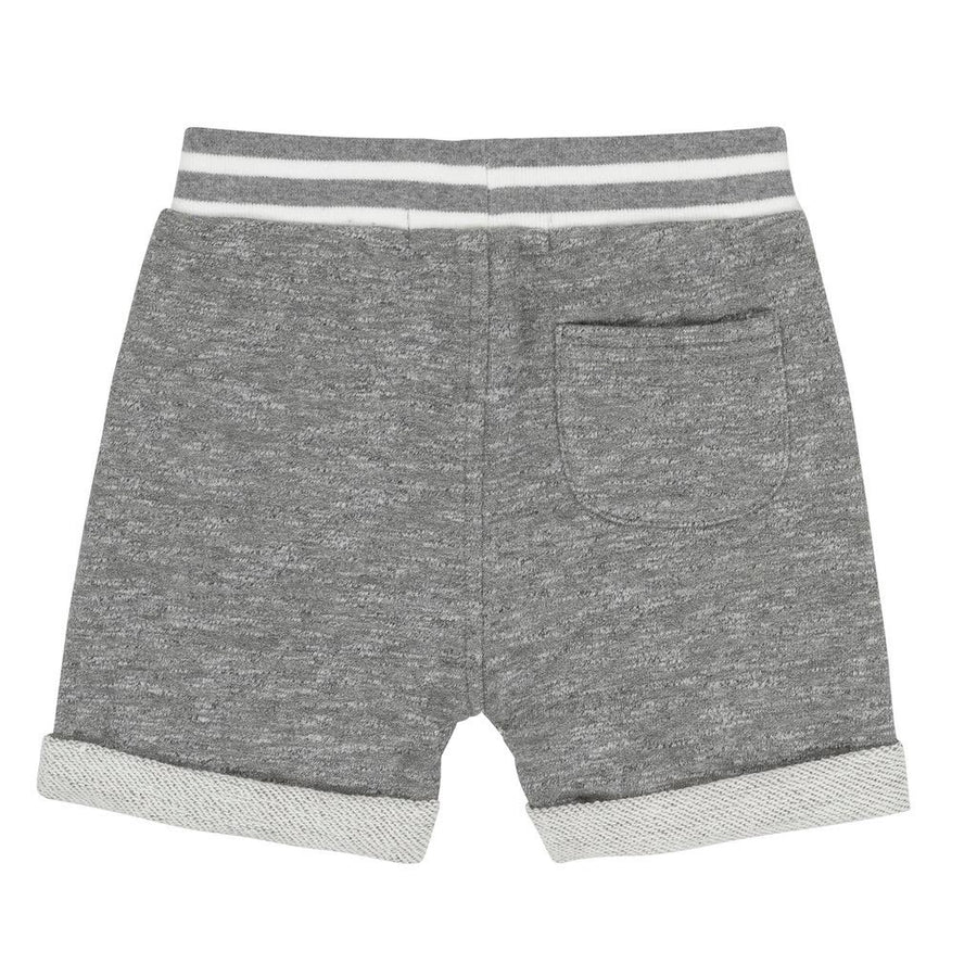 GRAY FRENCH TERRY BERMUDA SHORTS