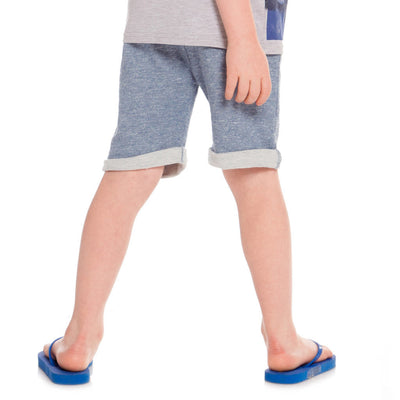DEUX PAR DEUX GALAXY BLUE FRENCH TERRY BERMUDA SHORTS-a30t25-885-