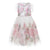 Monnalisa White Rose Tulle Dress
