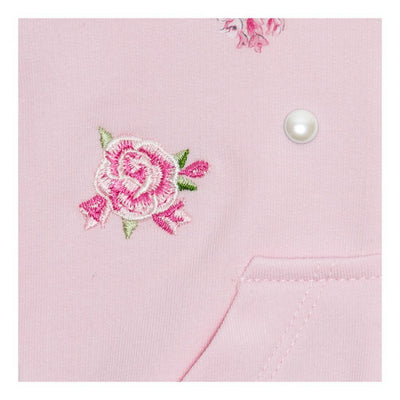 vMonnalisa Pink Rose And Butterfly Zip Up Cardigan-393802r8-3006-0090-