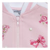 Monnalisa Pink Rose And Butterfly Zip Up Cardigan-393802r8-3006-0090-