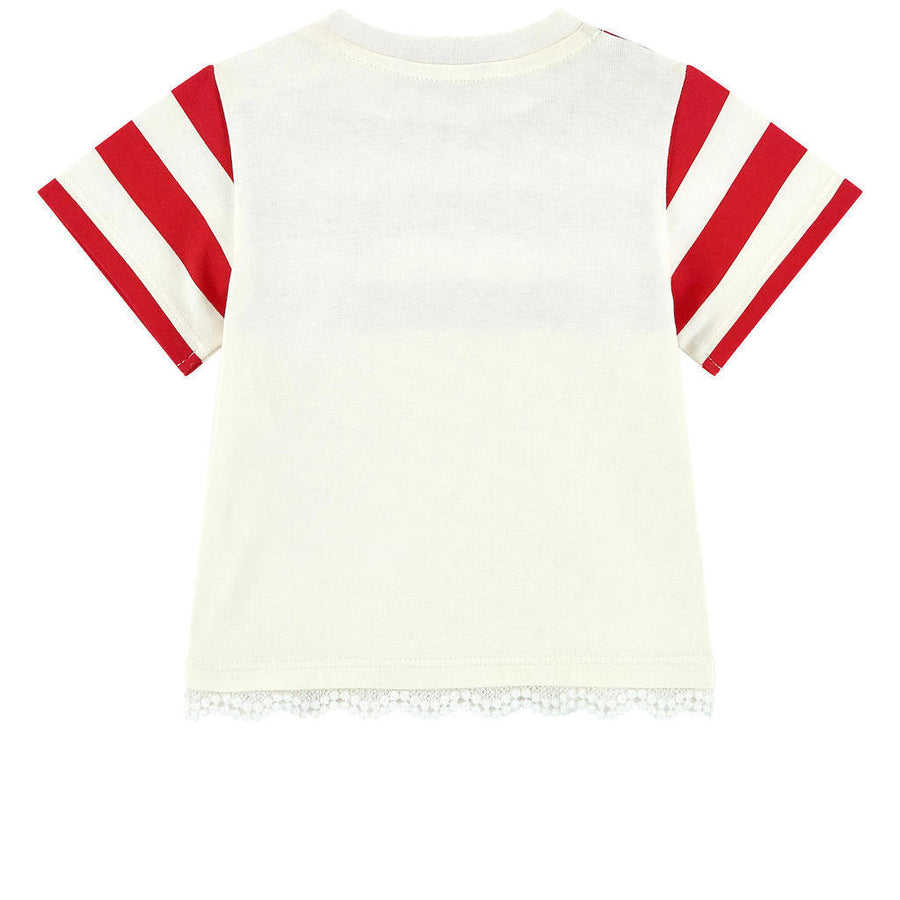 Moncler White And Red Stripe Dress
