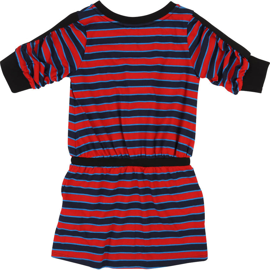 GIVENCHY RED NAVY STRIPE DRESS