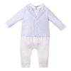 Patachou Blue/White Stripes Baby Boy Paysuit