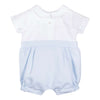 Patachou Sky Blue Piquet Baby Boy Romper