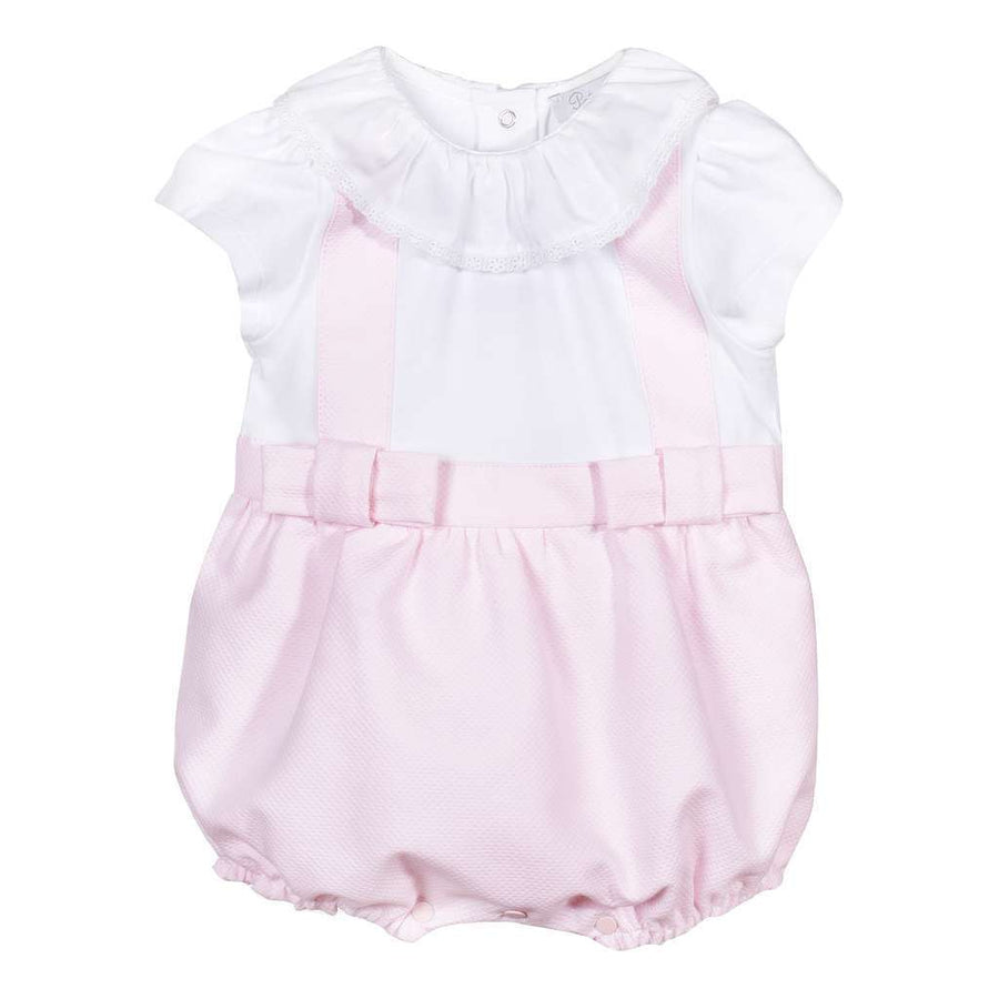 Patachou White Pink Baby Girl Romper