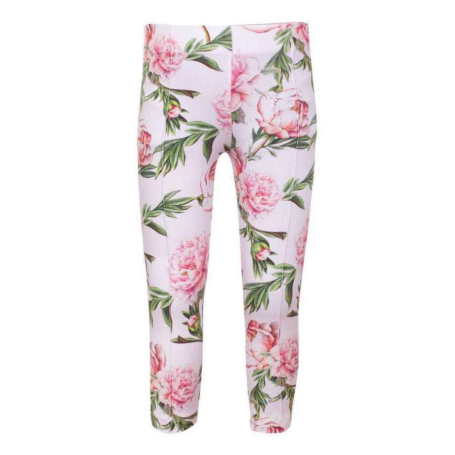 Patachou Pink Green Roses Leggings