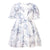 Patachou White Blue Water Flower Dress