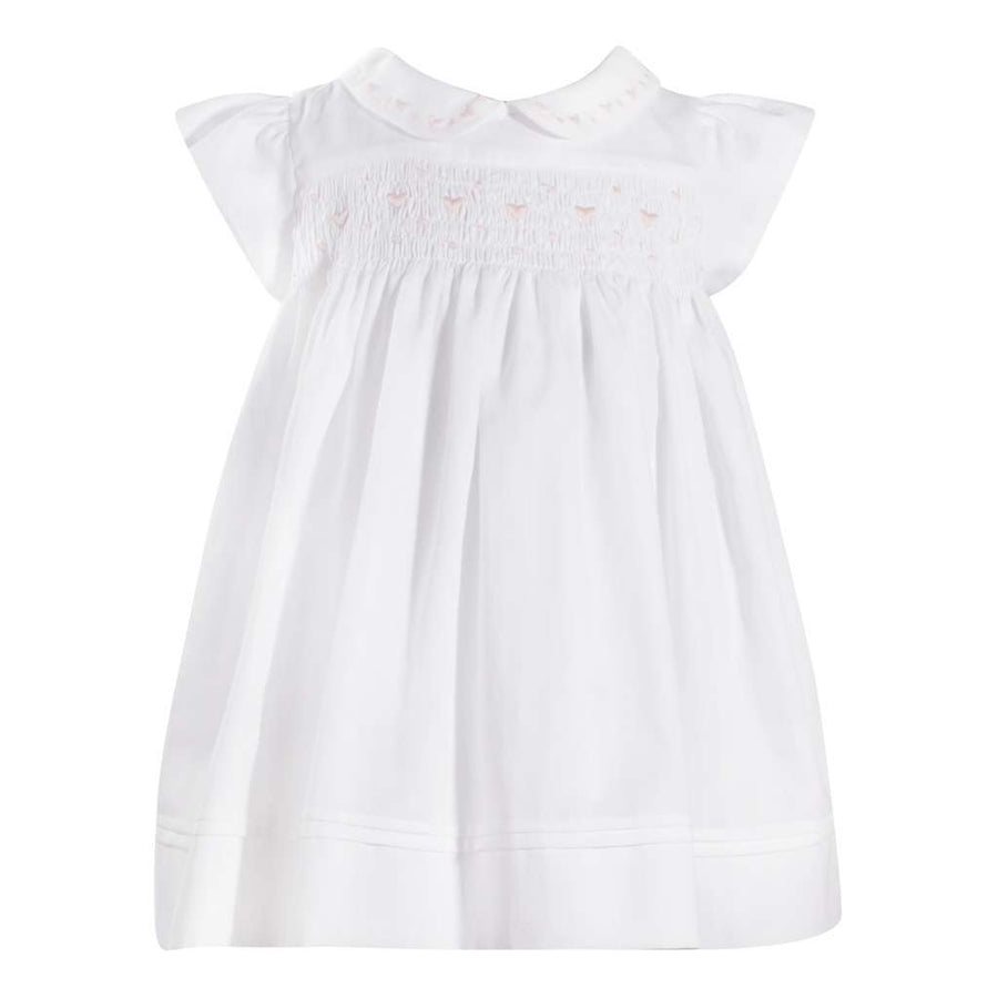 PATACHOU WHITE WOVEN GIRL DRESS