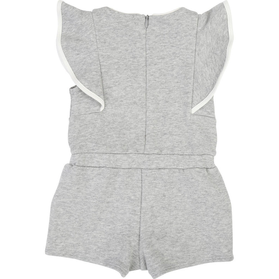 Chloe Gray Zip Up Romper