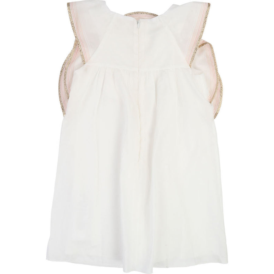 Chloe Ivory Gold Trim Dress